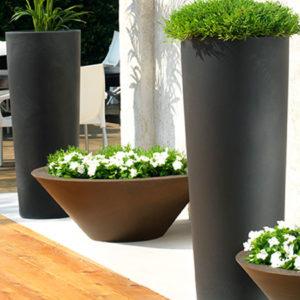 Pot de fleurs d'extérieur lumineux